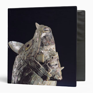 Head of an animal with human head in open jaws 3 ring binder