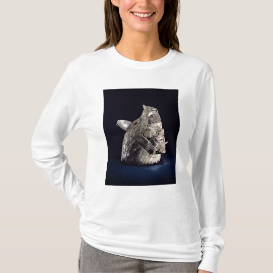 Head of an animal with human head in open jaws T-Shirt