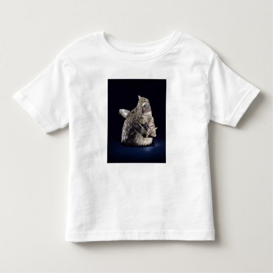 Head of an animal with human head in open jaws toddler t-shirt