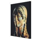 Head of an Etruscan Woman Canvas Print
