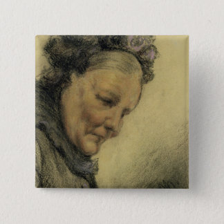 Head of an Old Lady Pinback Button