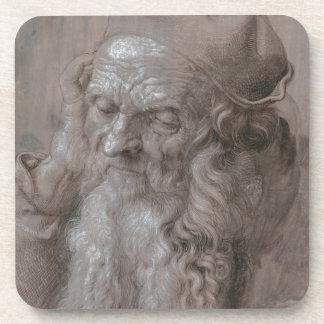 Head of an Old Man by Albrecht Durer Beverage Coaster