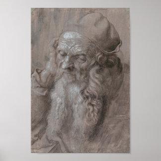 Head of an Old Man by Albrecht Durer Poster