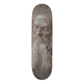 Head of an Old Man by Albrecht Durer Skateboard Deck