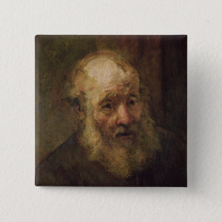Head of an Old Man, c.1650 Pinback Button