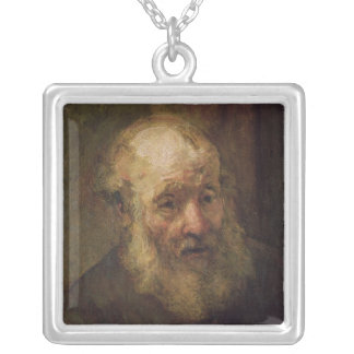 Head of an Old Man, c.1650 Square Pendant Necklace