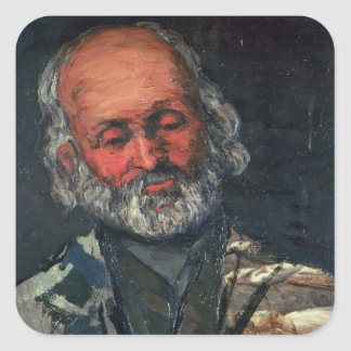 Head of an Old Man, c.1866 Square Sticker