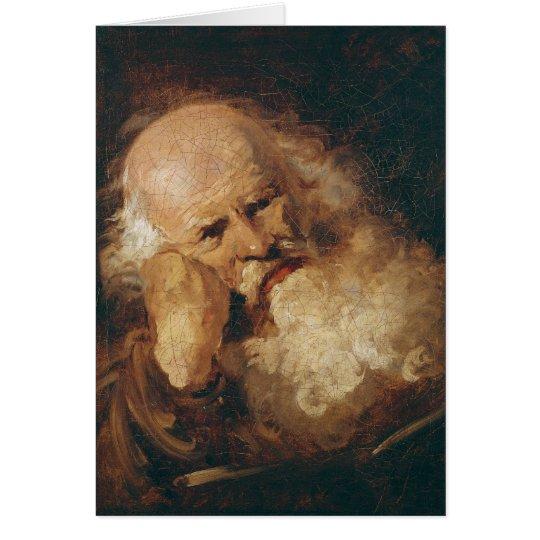 Head of an Old Man Card