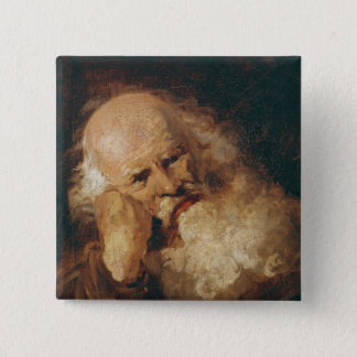 Head of an Old Man Pinback Button