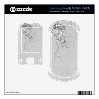 Head of an old woman in profile by Gustav Klimt Samsung Gravity 3 Skin