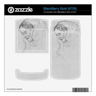 Head of an old woman in profile by Gustav Klimt Skins For BlackBerry Bold