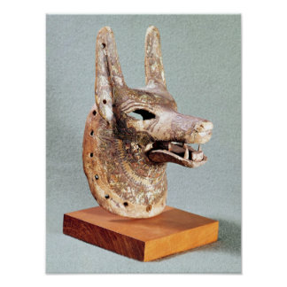 Head of Anubis, with a hinged jaw Poster