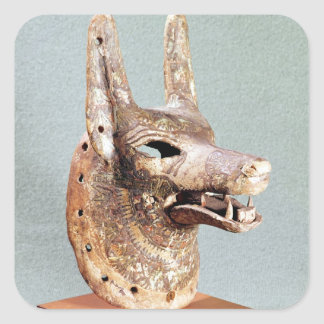 Head of Anubis, with a hinged jaw Square Sticker