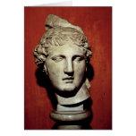 Head of Apollo from Ephesus Greeting Card