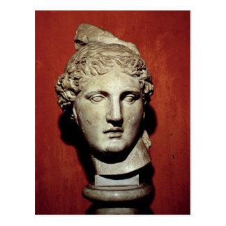 Head of Apollo from Ephesus Postcard
