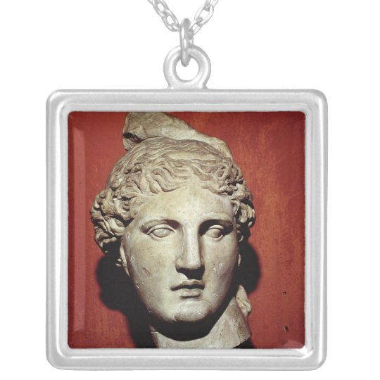 Head of Apollo from Ephesus Silver Plated Necklace