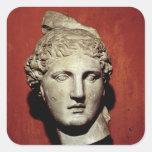Head of Apollo from Ephesus Square Stickers