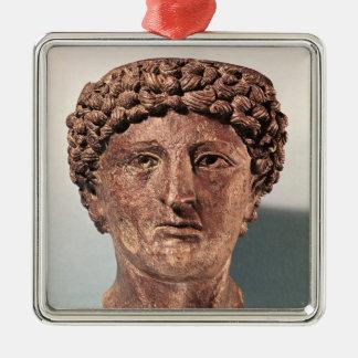 Head of Apollo, from Lillebonne Metal Ornament