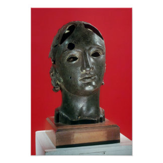 Head of Apollo, from Nimes, 1st-2nd century Poster