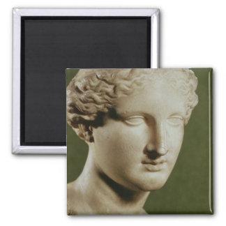 Head of Artemis 2 Inch Square Magnet