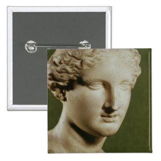 Head of Artemis 2 Inch Square Button