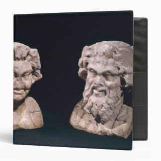 Head of Bacchus and satyr from a hermatic pillar Binder