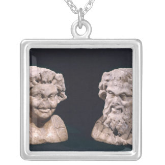 Head of Bacchus and satyr from a hermatic pillar Pendants