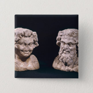 Head of Bacchus and satyr from a hermatic pillar Pinback Button