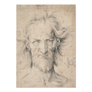 Head of Bearded Old Man (Saturn) by Durer Card