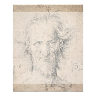 Head of Bearded Old Man (Saturn) by Durer Flyer