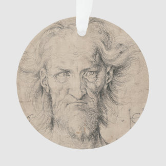 Head of Bearded Old Man (Saturn) by Durer Ornament