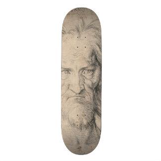 Head of Bearded Old Man (Saturn) by Durer Skateboard Deck