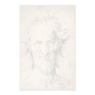 Head of Bearded Old Man (Saturn) by Durer Stationery