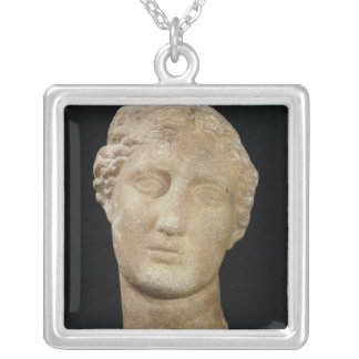Head of Berenice II Silver Plated Necklace