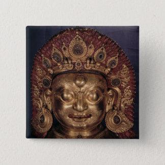 Head of Bhairava, late 17th century Pinback Button