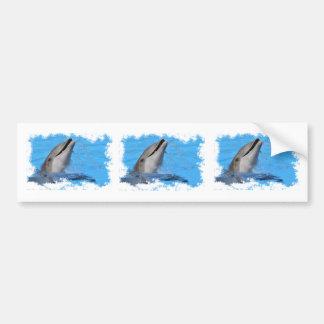 Head of  bottlenose dolphin bumper sticker