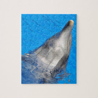 Head of  bottlenose dolphin jigsaw puzzle
