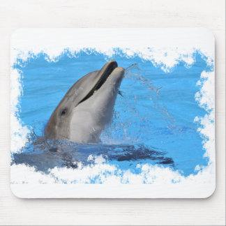 Head of  bottlenose dolphin mouse pad