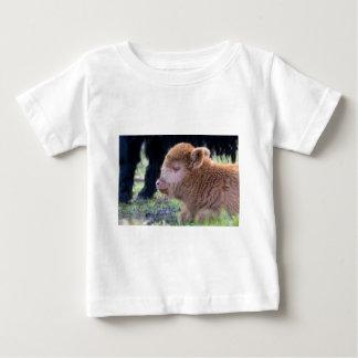 Head of Brown newborn scottish highlander calf Baby T-Shirt