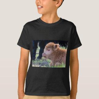 Head of Brown newborn scottish highlander calf T-Shirt
