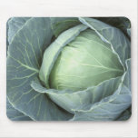 Head of cabbage with drops of water mouse pad