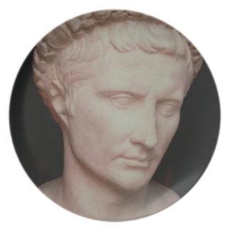 Head of Caesar Augustus Melamine Plate