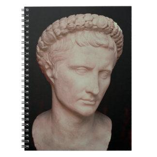 Head of Caesar Augustus Spiral Notebook