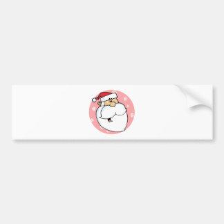 Head of Cartoon Santa Claus Car Bumper Sticker