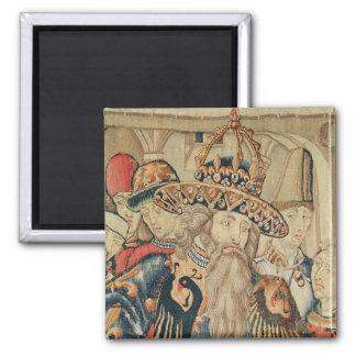 Head of Charlemagne , Tournai workshop Magnet
