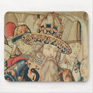 Head of Charlemagne , Tournai workshop Mouse Pad