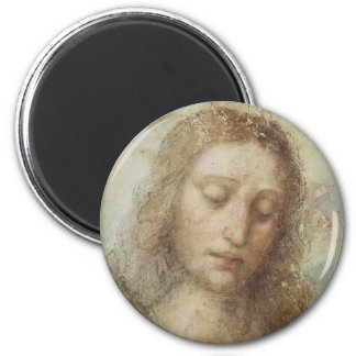 Head of Christ by daVinci 2 Inch Round Magnet
