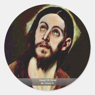 Head Of Christ By Greco El Sticker