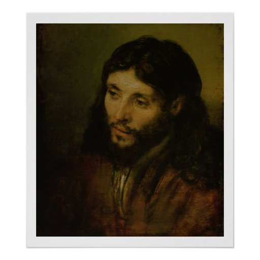 Head of Christ, c.1648 (oil on canvas) Poster