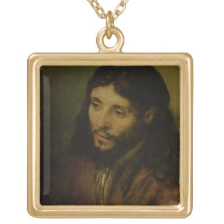 Head of Christ, c.1648 (oil on canvas) Square Pendant Necklace